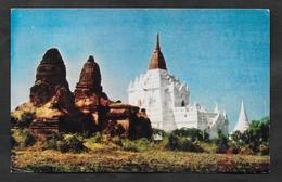 BURMA BIRMANIA MYANMAR THE GAWDAWPALIN TEMPLE BESIDE ITS NEIGHBOURS IN RUINS. PAGAN 1978 - Myanmar (Burma)