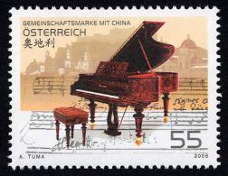 """AUSTRIA ÖSTERREICH 2006 Gemeinschaftsausgabe China – Österreich: """"Klavier""""  MNH / ** / POSTFRISCH - 1945-.... 2de Republiek"""