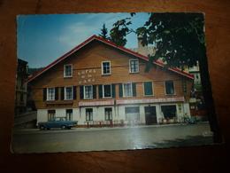 CPSM  HÔTEL De La GARE à Morteau (enseigne  BIERE CHOPARD ) Timbre Oblitéré En 1967 ? - Hotels & Restaurants
