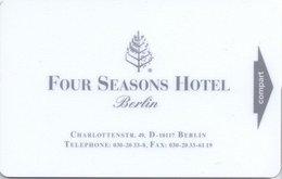 GERMANA KEY HOTEL  Four Seasons Hotel Berlin - Cartes D'hotel