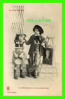 ENFANTS - LE MODÈLE EST GENTIL, ON EN FERA QUELQUE CHOSE - EDITION BERGERET - CIRCULÉE EN 1905 -  LE PETIT MODÈLE - - Portraits