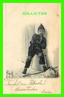 ENFANTS - PITIÉ POUR CE GARÇON PAUVRE QUI PLEURE - CIRCULÉE EN 1905 - CLÉMENT TOURNIER & CIE - - Portraits