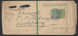 714d.Marked Parcel Post. Post 1909 Year. St. Petersburg Heidelberg. (Germany). Russian Empire - 1857-1916 Empire