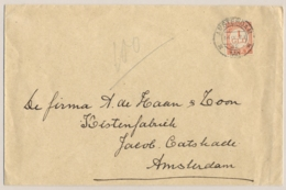 Nederland - 1921 - 1 Gulden Portzegel - Enkelfrankering Op Lokale Zakenbrief Amsterdam - Portomarken