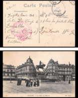 6346/ Carte Postale Place Du Martroi France Guerre 1914/1918 Dépot Du Service Automobile Orléans 1916 - Marcophilie (Lettres)