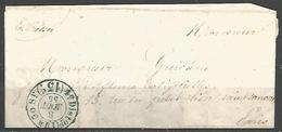 (D115) LAC De PARIS Pour La Ville Du 8/8/1855 - Càd Taxe 4e Distribution 15cts - 1801-1848: Precursors XIX