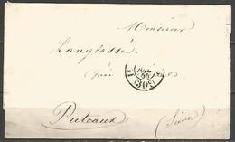 (D116) LSC De PARIS Pour PUTEAUX Du 26/7/1855 - Càd Taxe 1e Distribution 30cts - 1801-1848: Precursors XIX