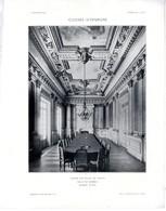 CAISSE D EPARGNE DE JOIGNY  SALLE DU CONSEIL & CHEMINEE DE LA SALLE  2 PLANCHE ISSUE DE LA REVUE L ARCHITECTURE L LISCH - Architecture