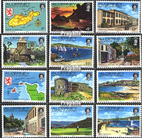 GB - Alderney 1-12 (kompl.Ausg.) Jahrgang 1983 Komplett Postfrisch 1983 Ansichten Von Guernsey - Alderney