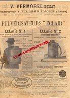 69-VILLEFRANCHE-RARE CATALOGUE V. VERMOREL-CONSTRUCTEUR PULVERISATEUR ECLAIR-POMPES VIN-SOUFREUSE TORPILLE 1896-ALAMBIC - 1800 – 1899