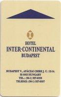 UNGHERIA KEY  HOTEL InterContinental Budapest - Chiavi Elettroniche Di Alberghi