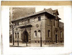 HOPITAL MARIE LANNELONGUE PARIS RUE D IVRY  PLANCHE ISSUE DE LA REVUE L ARCHITECTURE 1913 AVEC PLAN - Architecture