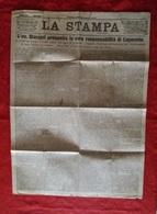 Caporetto Articolo Sulle Responsabilità Giornale La Stampa Del 15 / 2 / 1918 - Documenti