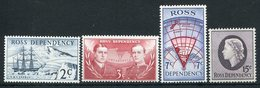 1967-ROSS DEP.-CPL.SET.-4 VAL.- M.N.H. LUXE !! - Ross Dependency (New Zealand)