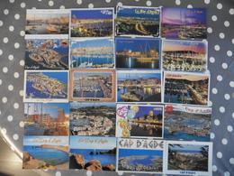 LOT   DE   77    CARTES POSTALES  NEUVES   DE  AGDE . CAP D ADGE ET GRAU D ADGE - Cartes Postales