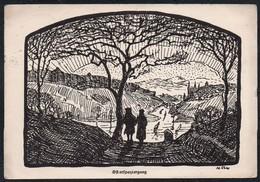 C0186 - Künstlerkarte - Christliche Pfadfinder - Osterspaziergang - Other Illustrators