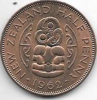 *new Zealand 1/2 Penny 1962  Km 23.2  UNC !!! - Nouvelle-Zélande