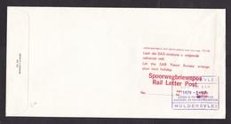 South Africa: Cover, 1979, 1 Stamp, Label Rail Letter, Advertorial Travel Bureau, Station Cancel (stamp Damaged) - South Africa (1961-...)