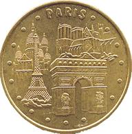 75 PARIS  4 MONUMENTS TOUR EIFFEL ARC DE TRIOMPHE NOTRE DAME MÉDAILLE MONNAIE DE PARIS 2006S JETON MEDALS TOKEN COINS - Monnaie De Paris