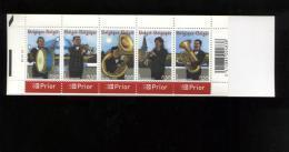 Belgie Boekje Carnet 2005 B57 PLAATNUMMER 4 MUSIC Fanfare Copper Horns Instruments Bugle Trumpet Clarinet Tuba - Booklets 1953-....