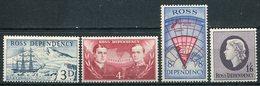 1957-ROSS DEP.-CPL.SET.-4 VAL.- M.N.H. LUXE !! - Ross Dependency (New Zealand)