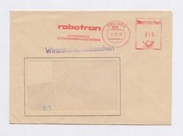 DDR Cover AFS - DRESDEN, Robotron Elektronische Datenverarbeitungssysteme 22.12.70 - Machine Stamps (ATM)