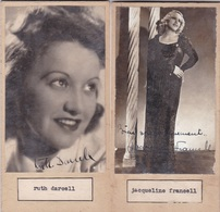 RUTH DARCEL;JACQUELIN FRANCELL. PHOTO AUTOGRAPHED ONE ATACHED TO THE OTHER CIRCA 1930s ORIGINAL SIZE 8x16cm- BLEUP - Signed Photographs