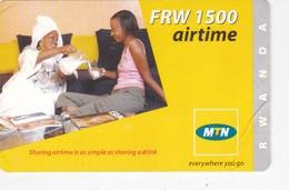 Rwanda, FRW 1500 Airtime, 2 Women, 2 Scans.   Please Read - Rwanda