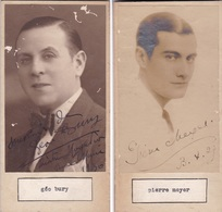 GEO BURY, PIERRE MEYER. PHOTO AUGOTRAPHED ONE ATACHED TO THE OTHER CIRCA 1930s ORIGINAL SIZE 8x16cm- BLEUP - Dédicacées
