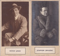 WALTER GRANT; GIUSEPPE PASQUINI. PHOTO AUTOGRAPHED ONE ATACHED TO THE OTHER CIRCA 1930s ORIGINAL SIZE 8x16cm- BLEUP - Dédicacées