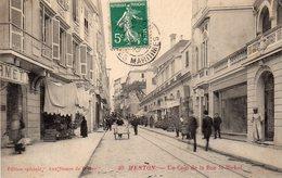 ¤ Menton - Un Coin De La Rue Saint Michel - Menton