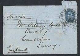 721d.International Simple Closed Letter. Post 1907 Moscow Wimbledon (England). Russian Empire. - 1857-1916 Empire