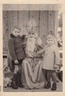 Photo, Foto, Sinterklaas Met 2 Kindjes, Photograph Santa Claus, Saint Nicolas, Pièce Unique (pk53539) - Saint-Nicolas