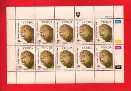 VENDA, 1990, MNH Stamp(s) In Full Sheets, Wildlife Animals, Nr(s) 200-203 - Venda