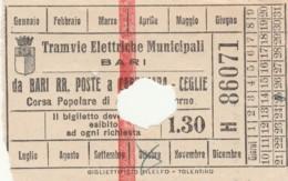 BIGLIETTO BUS TRAM BARI (BX118 - Europa
