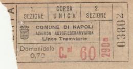 BIGLIETTO BUS TRAM NAPOLI (BX119 - Europa