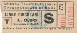 BIGLIETTO BUS TRAM ATAG ROMA (BX142 - Europa
