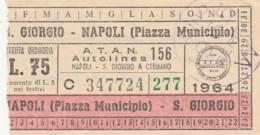 BIGLIETTO BUS TRAM NAPOLI (BX144 - Europa