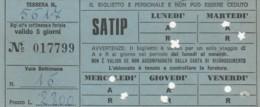 ABBONAMENTO SETTIMANALE SATIP (BX169 - Abbonamenti