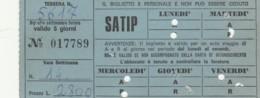 ABBONAMENTO SETTIMANALE SATIP (BX171 - Abbonamenti
