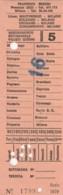 ABBONAMENTO SETTIMANALE MILANO (BX175 - Abonnements Hebdomadaires & Mensuels