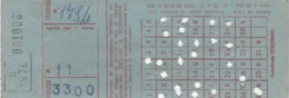 ABBONAMENTO MENSILE AUTOLINEE COLOMBO (BX178 - Abonnements Hebdomadaires & Mensuels