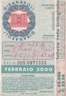 ABBONAMENTO NAPOLI FEB 2000 (BX181 - Abonnements Hebdomadaires & Mensuels