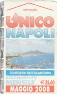 ABBONAMENTO NAPOLI MAG 08 (QUALCHE PIEGA) (BX192 - Abonnements Hebdomadaires & Mensuels