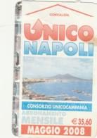 ABBONAMENTO NAPOLI MAG 08 (QUALCHE PIEGA) (BX196 - Abonnements Hebdomadaires & Mensuels