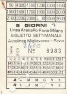 ABBONAMENTO SETTIMANALE PAVIA (BX199 - Abonnements Hebdomadaires & Mensuels