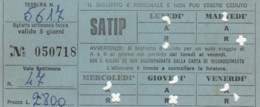ABBONAMENTO SETTIMANALE SATIP (BX202 - Abonnements Hebdomadaires & Mensuels