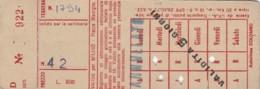 ABBONAMENTO SETTIMANALE MILANO (BX206 - Abonnements Hebdomadaires & Mensuels