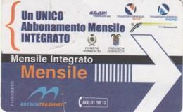 ABBONAMENTO MENSILE BRESCIA (QUALCHE PIEGA) (BX209 - Abonnements Hebdomadaires & Mensuels