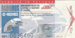 BIGLIETTO BUS TRAM MILANO (BX210 - Autobus